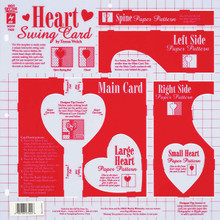 HOTP Template 7422 Heart Swing Card Template12X12