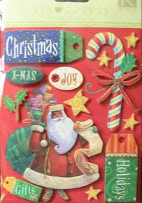 Tim Coffey Christmas Grand Adhesions Stickers K&Co