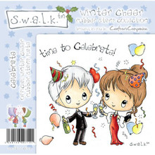 Swalk Winter Cheer Collection  CELEBRATE EZMount Stamp Set