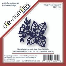 "Die-namites DN-1195 FIVE PETAL FLOWERS Cutting Die Approx 3X3"" DAFFODIL"
