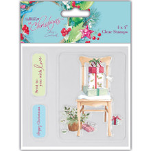 Lucy Cromwell At Christmas Chair Clear Stamp Set 4x4-inches