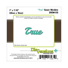 Die-Versions DVSW-010 TRUE Sweet Wordlets Cutting Die
