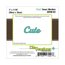Die-Versions DVSW-021 CUTE Sweet Wordlets Cutting Die