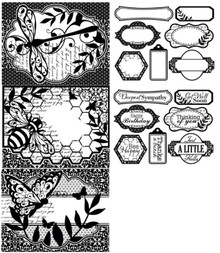 Color Me Winged Things Card Toppers Paper Pack