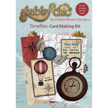 Shabby Chic TIMEFLIES Card Making Kit by Debbi Moore Designs 24 Craft Sheets with CD Rom! STEAMPUNK Style
