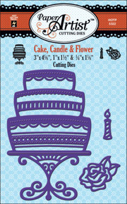 Paper Artist 5322 Cake Candle and Flower Cutting Dies by Hot Off the Press Works in Most Popular Tabletop Die Cutting Machines