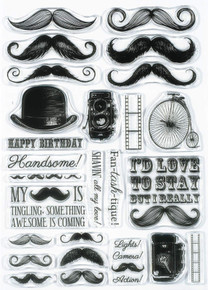 Hunkydory Moushtamps Clearly Stamps Set Mustache MASCULINE