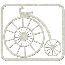 ANTIQUE BICYCLE Die-Cut Chipboard embellishment FabScraps