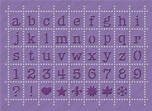 Cuttlebug 5x7 Embossing Plus, Postage Stamp Alphabet 2000248