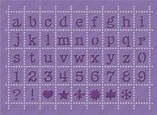 Cuttlebug 5x7 Embossing Plus, Postage Stamp Alphabet 2000248