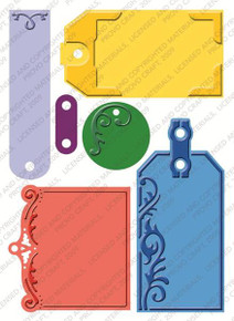 CUTTLEBUG Embossed Tags Embossing Plus Folder Cuts and Embosses! 2000250