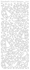 ELIZABETH CRAFT Ladybugs EC2341 Black Peel Off Stickers OUTLINE