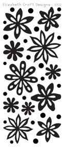 Elizabeth Craft Velvet Flowers 3002 Red Peel Stickers