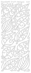 ELIZABETH CRAFT FLOWER Leaves BLACK 0437 Peel Off Stickers OUTLINE