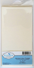 "Elizabeth Craft Watercolor Paper 10sheets 4""X9""  Elizabeth Craft 90lbs 200g/m"