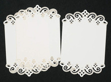 Luxury Cardlayers 3pc Floral Borders C5803 Ivory Laser-Cut Card Accents Making