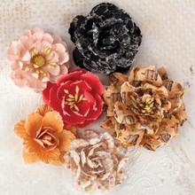 Lyric Paper Flowers 6 pieces Natural Tones