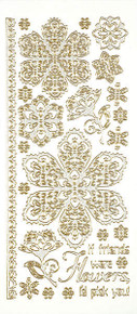 HOTP Dazzles Silver Lacy Flowers 2479 Outline Stickers