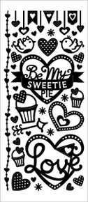HOTP Dazzles 2481 Sweetie Pie Outline Stickers