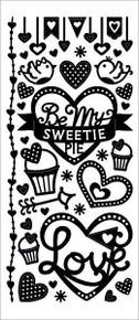 HOTP Dazzles 2481 Sweetie Pie Outline Stickers