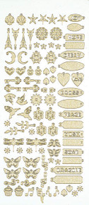 HOTP Dazzles GOLD PEARL CHARMS 2474 Outline Stickers