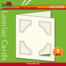 """5 Red Lomiac Die-Cut Square with Circle Cards 5.25x5.25"""" Cards Making"""