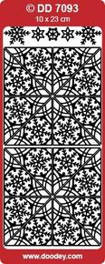 DD7093 Snowflake Corners GOLD Peel Stickers One 9x4 Sheet