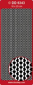 DD6343 SIlver Flexible Heart Borders Peel off Stickers