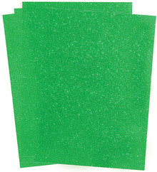 4pc A4 Green Glitterfoil Adhesive-Back Glitter Paper