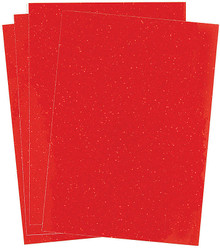 4pc A4 Red Glitterfoil Adhesive-Back Glitter Paper