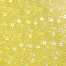 3pc 8.5x11 Gold Holographic Stars Adhesive-Back Paper