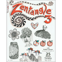 Zentangle 3 with Rubber Stamps Book 40-More Tangles Drawing Inspiration Ideas Instruction