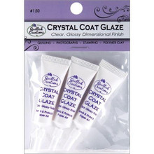 Crystal Coat Glaze Clear Glossy Dimensional Finish Accents 3-mini tubes for Jewelry Quilling Stamping Clay