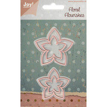 JOY! CRAFTS Floral Flourishes Flower Set 2 6002/0157 Set-of-4 Thin Dies
