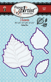 Paper Artist N5307 3 Leaves Set Cutting Dies by Hot Off the Press Works in Most Popular Tabletop Die Cutting Machines