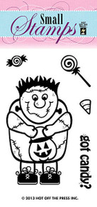 HOTP Clear Stamps Small MONSTER HALLOWEEN 1130 Acrylic