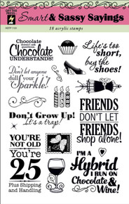 HOTP Clear Stamps SMART & SASSY SAYINGS 1131 Acrylic SAYINGS