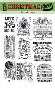 HOTP Clear Stamps CHRISTMAS CHEER 1122 Acrylic SAYINGS
