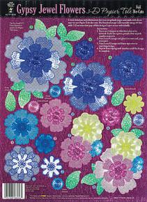 HOTP 3-D Foil 8056 GYPSY JEWEL FLOWERS Papier Tole Paper