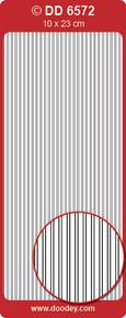 DD6572 Straight Line Borders MULTI Peel Stickers One 9x4 Sheet