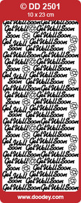 DD2501 Get Well Soon COPPER Peel-Off Outline Metallic Style Sticker