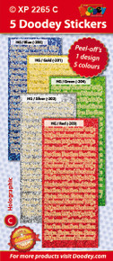 5-Sheet XP2265C BRIGHT HUSBAND WIFE BROTHER SISTER Holographic Greeting Blue Gold Green Silver Red Stickers Set Peel