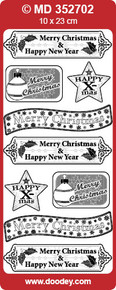 VERSES TEXT LABELS Gold CHRISTMAS MD352702 Peel Stickers Labels One 9x4 Sheet