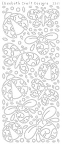 ELIZABETH CRAFT LADY BUGS 2STICKY N2341 Peel Off Stickers OUTLINE