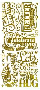HOTP Dazzles N2467 Big Greetings Stickers Outline Peel 2467