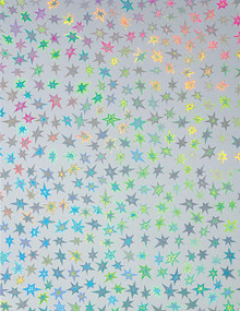 Stars Holographic Silver 4 sheets 8.5x11 Cardstock STUNNING!
