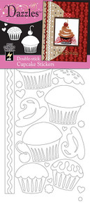 HOTP Dazzles Double-Stick Cupcake Stickers 2071