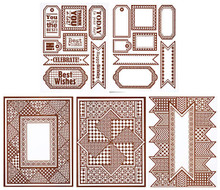 Color Me BROWN GEOMETRICS Card Toppers 7065 SM Paper Pack by HOTP