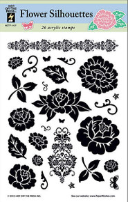 HOTP 26 Clear Stamps FLOWER SILHOUETTES 1107 Acrylic