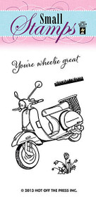 HOTP Clear Stamps Small 1117 Scooter Acrylic